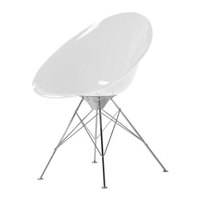 KTERO4-GLOSSY WHITE: Customized Item of Ero S Chair by Kartell, 4 Legs (KTERO4)