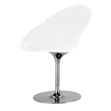 KTEROAB-GLOSSY WHITE: Customized Item of Ero S Chair by Kartell, Aluminum Base (KTEROAB)