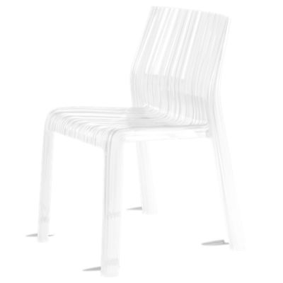 KTFRILL2PK-GLOSSY WHITE: Customized Item of Frilly Chair by Kartell, Set of 2 (KTFRILL)