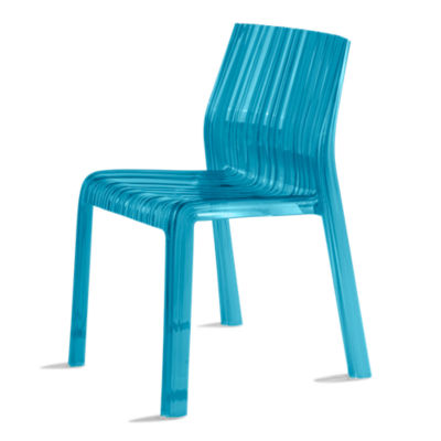 KTFRILL2PK-TURQUOISE: Customized Item of Frilly Chair by Kartell, Set of 2 (KTFRILL)