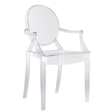 KTLGC-GLOSSY BLACK: Customized Item of Louis Ghost Chair by Kartell, Set of 2 (KTLGC)