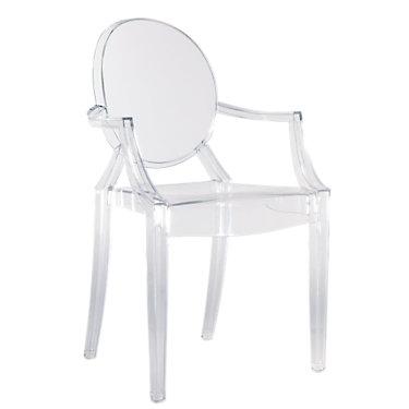 KTLGC-SUNSET ORANGE: Customized Item of Louis Ghost Chair by Kartell, Set of 2 (KTLGC)