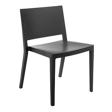 KTLZCMT2PK-MATTE WHITE: Customized Item of Lizz Chair by Kartell, Set of 2 (KTLZC)