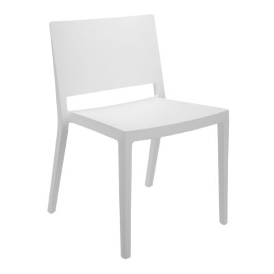 KTLZCMT2PK-MATTE WHITE: Customized Item of Lizz Chair by Kartell, Set of 2 (KTLZC)