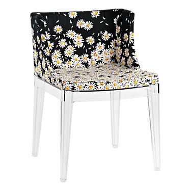 KTMMC-BLACK_MOSCHINO BLACK HEARTS: Customized Item of Mademoiselle Printed Chair by Kartell (KTMMC)