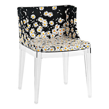 KTMMC-BLACK_MOSCHINO SKETCHES: Customized Item of Mademoiselle Printed Chair by Kartell (KTMMC)