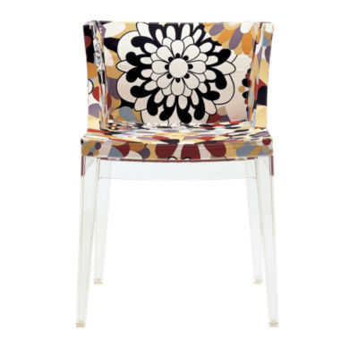 KTMMC-CRYSTAL_MISSONI VEVEY BURNT: Customized Item of Mademoiselle Printed Chair by Kartell (KTMMC)