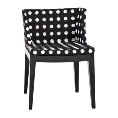 KTMMC-BLACK_BLACK POLKA DOTS: Customized Item of Mademoiselle Printed Chair by Kartell (KTMMC)