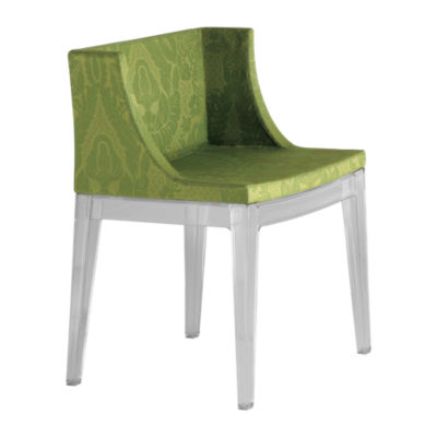 KTMMC-BLACK_DAMASK GREEN: Customized Item of Mademoiselle Printed Chair by Kartell (KTMMC)