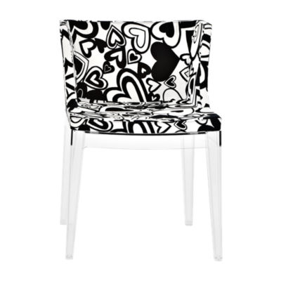 KTMMC-CRYSTAL_MOSCHINO BLACK HEARTS: Customized Item of Mademoiselle Printed Chair by Kartell (KTMMC)