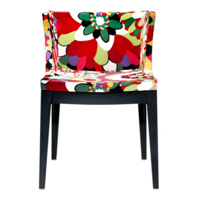 KTMMC-CRYSTAL_MISSONI VEVEY RED: Customized Item of Mademoiselle Printed Chair by Kartell (KTMMC)