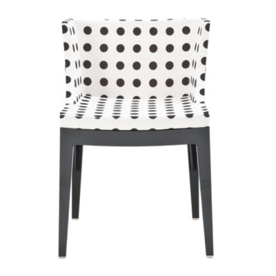 KTMMC-BLACK_WHITE POLKA DOTS: Customized Item of Mademoiselle Printed Chair by Kartell (KTMMC)