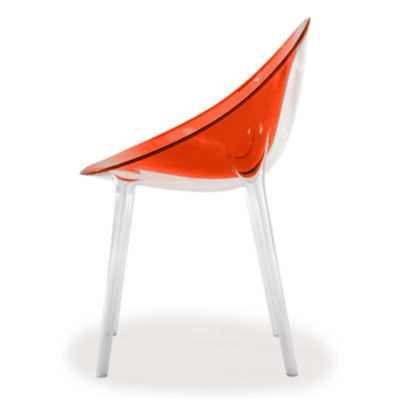 KTMRI-RED ORANGE: Customized Item of Mr. Impossible Chair by Kartell (KTMRI)