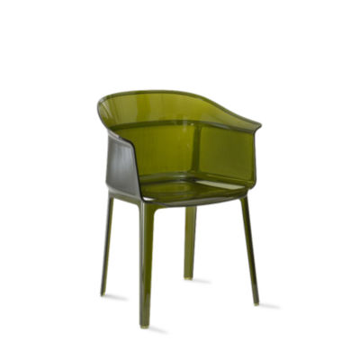 KTPAPY-OLIVE GREEN: Customized Item of Papyrus Chair by Kartell, Set of 2 (KTPAPY)
