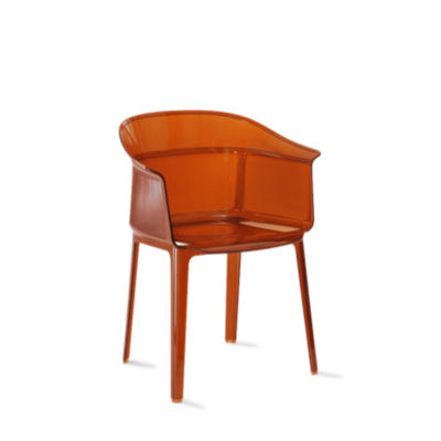 KTPAPY-ORANGE RED: Customized Item of Papyrus Chair by Kartell, Set of 2 (KTPAPY)