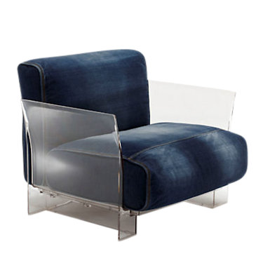 KTPOP001-BLACK_TREVIRA DOVE: Customized Item of Pop Lounge Chair by Kartell (KTPOP001)