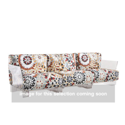 KTPOP003-BLACK_MISSONI VEVEY BURNT: Customized Item of Pop Sofa by Kartell (KTPOP003)