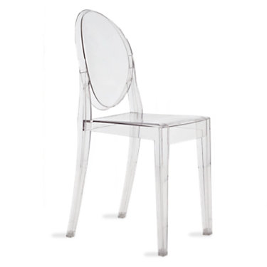 KTVGC2PK-LIGHT BLUE: Customized Item of Victoria Ghost Chair by Kartell, Set of 2 (KTVGC)