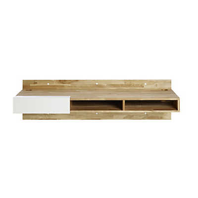 Lax Series Wall Mounted Desk With Storage Nooks Smart