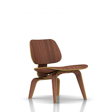 LCW-RED STAIN: Customized Item of Eames Plywood Lounge Chair by Herman Miller (LCW)