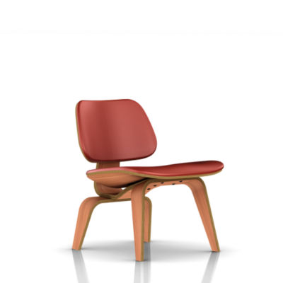 LCWUOU1R02MCL: Customized Item of Eames Plywood Lounge Chair by Herman Miller, Upholstered (LCWU)