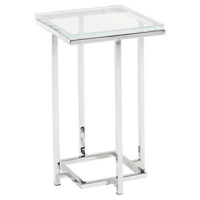 Picture of Mirage Stanwyck Glass Top Accent Table by Lexington