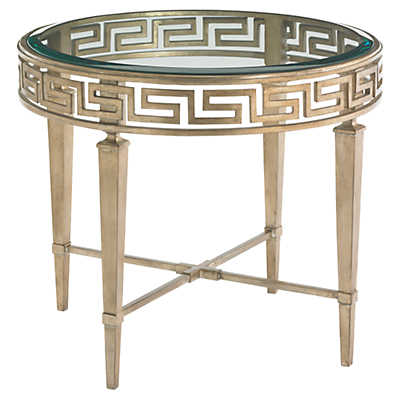 Picture of Tower Place Aston Round Lamp Table by Lexington