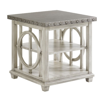 Picture of Oyster Bay Lewiston Square Lamp Table by Lexington