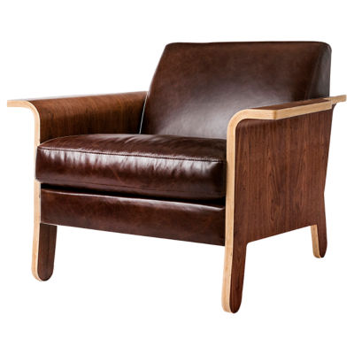 Picture of Lodge Leather Chair by Gus Modern