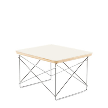 LTRTBKBK: Customized Item of Eames Wire-Base Table by Herman Miller (LTRT)
