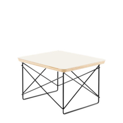 LTRTBKBK: Customized Item of Eames Wire-Base Table by Herman Miller (LTRT)
