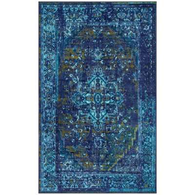 Picture for Vintage Reiko Rug in Blue by nuLOOM