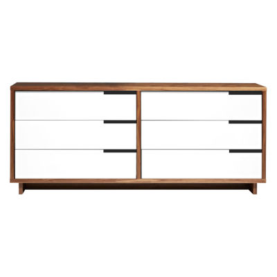 MDDR.0001-W-WH-WH-WH-WH-WH-REB: Customized Item of Modu-licious Low Dresser by Blu Dot (MDDR.0001)