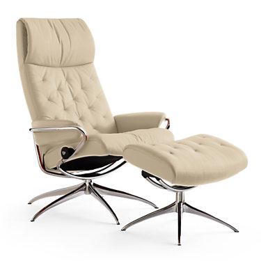 METROHB-CORI BEIGE-HIGH BASE-SP: Customized Item of Stressless Metro High-Back Chair by Ekornes (METROHB)
