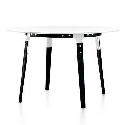 Picture of Magis Round Steelwood Table by Magis