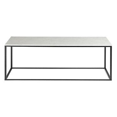 MINIMALISTA001-HONED MARBLE-WHITE: Customized Item of Minimalista Coffee Table by Blu Dot (MINIMALISTA001)