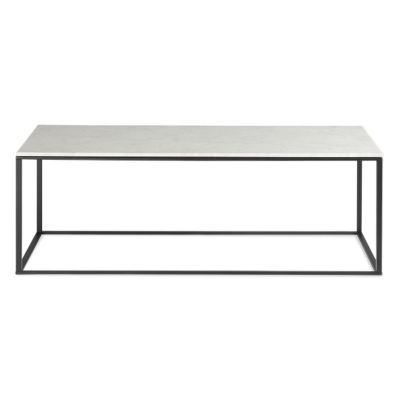 MINIMALISTA001-HONED MARBLE-WHITE: Customized Item of Minimalista Coffee Table by Blu Dot (MINIMALISTA001)