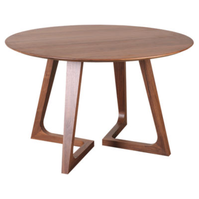 Picture of Godenza Round Walnut Dining Table  by Moe's