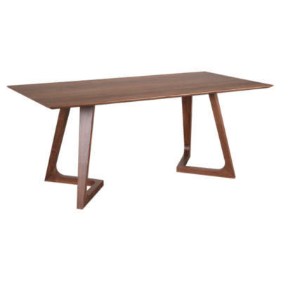 Picture of Godenza Rectangular Walnut Dining Table  by Moe's