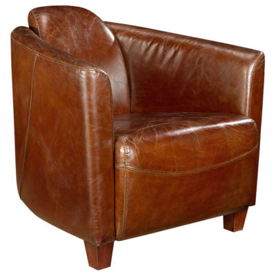 Picture of Salzburg Brown Club Chair by Moe's