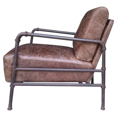 Picture of Livingstone Light Brown Club Chair by Moe's