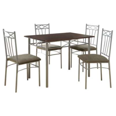 Picture for Cappuccino and Silver 5-Piece Dining Set by Monarch