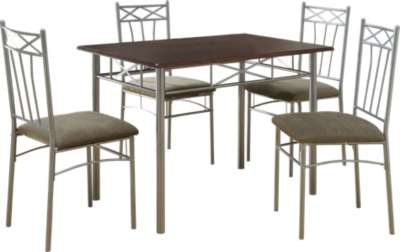 Silver for Cappuccino and Silver 5-Piece Dining Set by Monarch (MRCI1020)