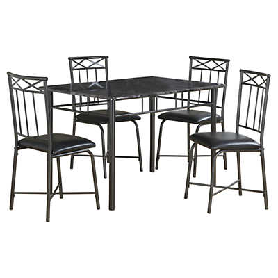 Picture of Grey Marble 5-Piece Dining Set by Monarch