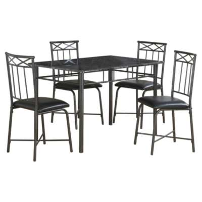 Picture for Grey Marble 5-Piece Dining Set by Monarch