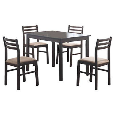 Picture of Cappuccino Veneer 5-Piece Dining Set by Monarch