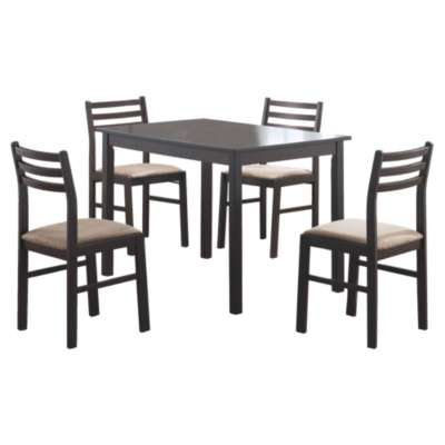 Picture for Cappuccino Veneer 5-Piece Dining Set by Monarch