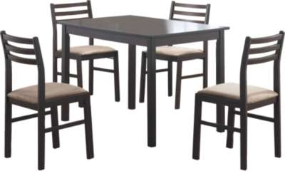 Cappuccino for Cappuccino Veneer 5-Piece Dining Set by Monarch (MRCI1111)
