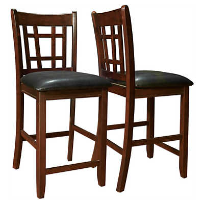 Picture of Cappuccino and Black Pub Chairs, Set of 2 by Monarch