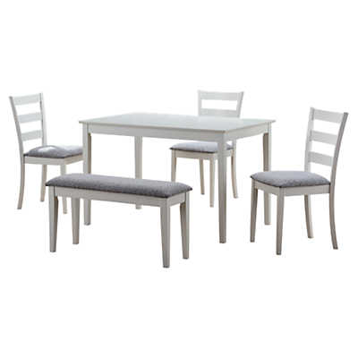 Picture of 5-Piece Dining Set with Bench and 3 Side Chairs by Monarch